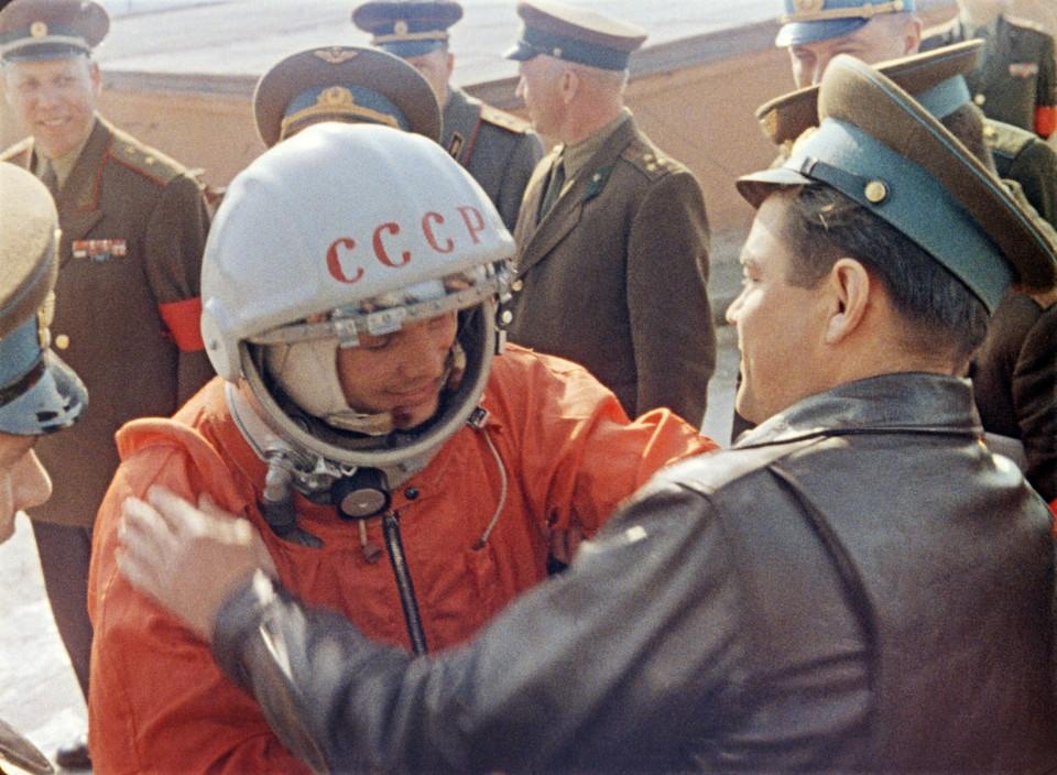 Первый космонавт Земли Юрий Гагарин. Фото: Репродукция Фотохроники ТАСС