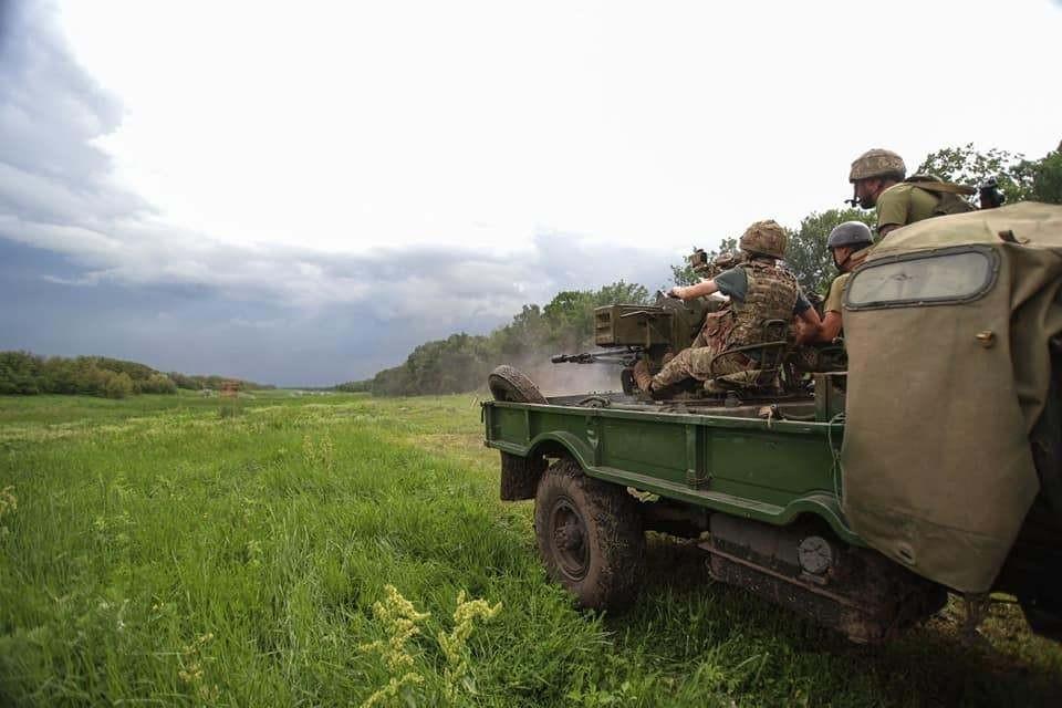 ВСУ не прекращают обстрелов. Фото: штаб ООС