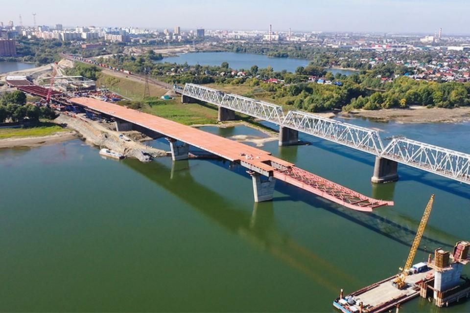 """В Новосибирске строительство четвертого моста завершили почти на половину. Фото: ГК """"ВИС"""""""