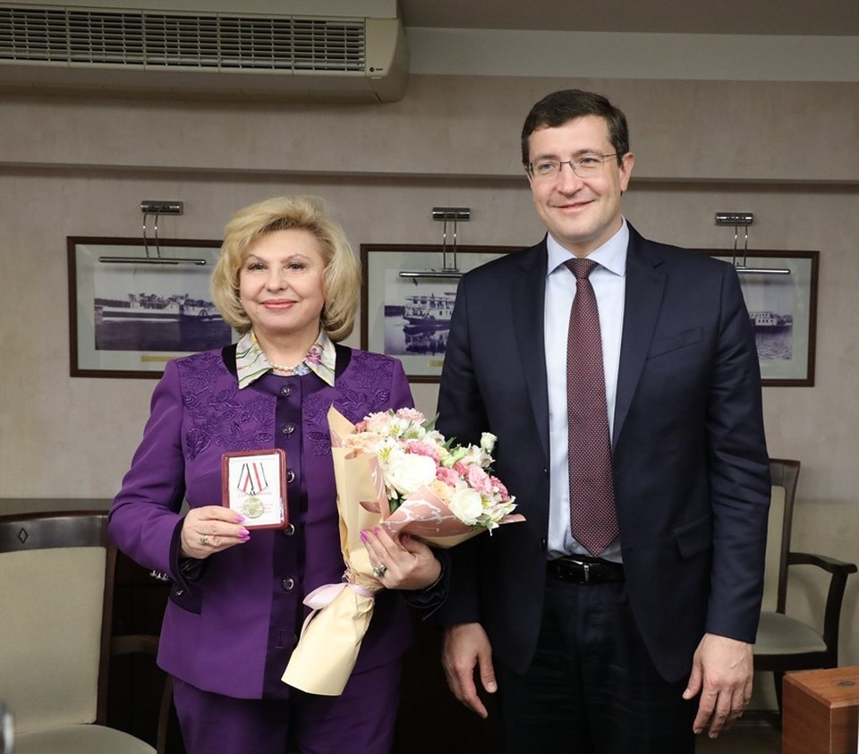 Глеб Никитин и Татьяна Москалькова. Фото: Александр Воложанин